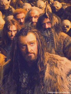 i love how Kili is trying to hide the inner fear he must feel by trying to be defiant, just like Uncle