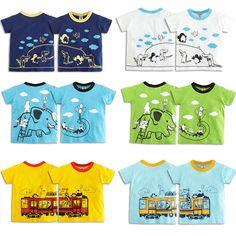 2016 Hot Sale Kids Baby Boys Girls T-Shirt High Quality Creative Cartoon Short Sleeve Children's Boy Girl Summer Tees Tops