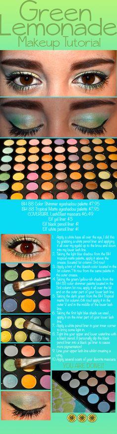 Green Lemonade Makeup Look - DIY - How To - Step by Step - BH Cosmetics
