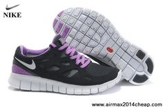 Latest Listing Nike Free Run 2 Black White-Anthracite-Bright Violet Mens  Lightweight Shoes