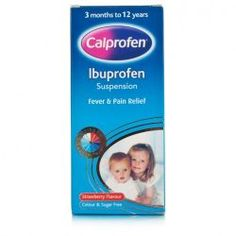 Calprofen Sugar Free Ibuprofen 3+ Months I used to use nurofen syrup for children vut you can nw only get it with a syringe and I prefer to use a spoon, so have switched to this one.