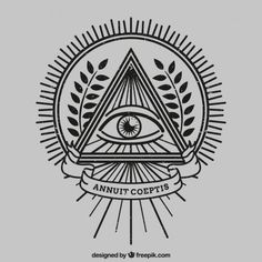 Eye inside a triangle Free Vector Time Tattoos, Tattoos For Guys, Tatoos, Ojo Tattoo, Illuminati Tattoo, Graphic Design Tattoos, All Seeing Eye, Lowbrow Art, Love Drawings