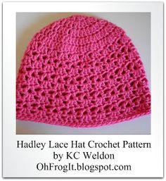 Oh Frog It!: Pattern - Hadley Lace Hat