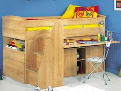 Low Loft bed with Desk