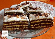 Viktória szelet, elképesztően finom és nagyon krémes! Homemade Baileys, Baileys Recipes, Hungarian Desserts, Hungarian Recipes, Poppy Cake, Cake Bars, Recipe Using, Dessert Recipes, Food And Drink