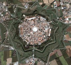 The perfectly fortified city of Palmanova (UD), province  of Udine , FRIULI Venezia GIULIA region Italy