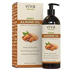 Sweet Almond Oil for Skin or Almond Oil for Hair, The Perfect Natural Body Oil for Women, Great as Unscented Massage Oil, 16 oz Get the best Nutritious hair oil for your healthy natural hairs Oil For Dry Skin, Oils For Skin, Homemade Bug Spray, Essential Oils For Hair, Hair Growth Oil, A30, Carrier Oils, Massage Oil, Sweet Almond Oil