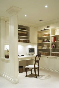 like this ideal near next to the kitchen as a little desk and shelfs as where telephone is...like this!
