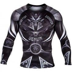 Venum Gladiator 3.0 Rashguard - Black/White - 1 Men's Super Hero Shirts, Women's Super Hero Shirts, Leggings, Gadgets