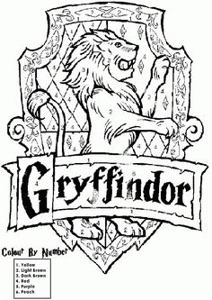 Hogwarts Crest Coloring Page   Coloring Pages For Kids And For Adults