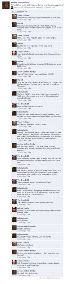 Dragon Age 2 on Facebook: Aveline's Lament by ParisWriter