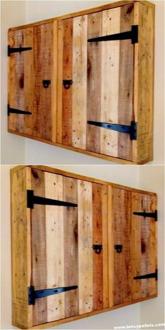 Durable Wood Pallet Cabinet Durable Wood Pallet Cabinet The post Durable Wood Pallet Cabinet appeared first on Pallet Diy. Woodworking Workbench, Woodworking Furniture, Woodworking Projects, Custom Woodworking, Woodworking Techniques, Woodworking Fasteners, Woodworking Equipment, Woodworking Videos, Pallet Cabinet