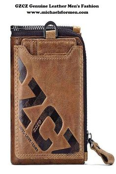 bc48e4b29022 GZCZ Genuine Leather Men s Fashion Wallet with Coin Purse and Card Holder