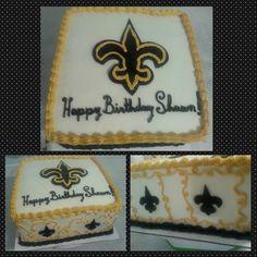 New Orleans Saints Themed Birthday Cake! #neworleanssaints #birthday #cake