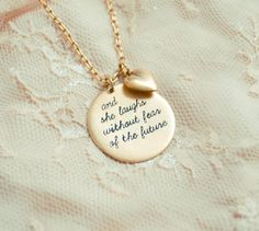 And She Laughs Without Fear Of The Future: Proverbs 31 Hand Stamped Necklace Proverbs 31 Woman Christmas List 2015, Hand Stamped Metal, Proverbs 31 Woman, Gold Necklace, Pendant Necklace, Hand Stamped Necklace, Christian Gifts, Essential Oil Blends, Metal Stamping