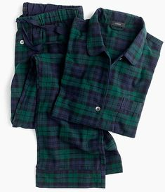 Shop J.Crew for the Black Watch tartan flannel pajama set for Women. Find the best selection of Women Sleepwear & Loungewear available in-stores and online. Pajamas For Teens, Cute Pajamas, Flannel Pajamas, Pyjamas, Adult Pajamas, Sleepwear & Loungewear, Sleepwear Women, Nightwear, Satin Pyjama Set