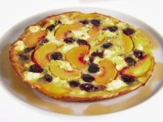 Get Frittata with Peaches and Cherries Recipe from Food Network