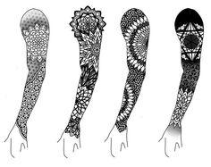 Geometric tattoo back mandalas 38 ideas Geometric Tattoo Sleeve Designs, Geometric Mandala Tattoo, Geometric Tattoos Men, Armband Tattoo Design, Tribal Arm Tattoos, Sacred Geometry Tattoo, Mandala Tattoo Design, Leg Tattoos, Tattoos For Guys