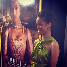 The gorgeous #GuguMbathaRaw at our #BelleMovie premiere in NY!