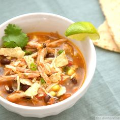 Carnitas Tortilla Soup:::I actually use the soup recipe and then use leftover Turkey from Thanksgiving. It's delicioso and much more awesome for cold weather than turkey sandwiches