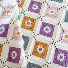 Transcendent Crochet a Solid Granny Square Ideas. Inconceivable Crochet a Solid Granny Square Ideas. Crochet Bedspread Pattern, Granny Square Crochet Pattern, Afghan Crochet Patterns, Baby Blanket Crochet, Crochet Motif, Crochet Squares, Crochet Yarn, Crochet Stitches, Crochet Designs