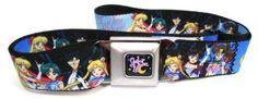 Sailor Moon Seatbelt Belt - Sailor Moon Group Blues