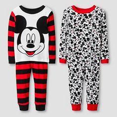 Toddler Boys' Disney Mickey Pajama Set-Red