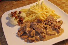 Chefkoch.de Rezept: Geschnetzeltes in Sahnesauce