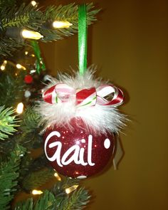 Red+glitter+ornament+personalized+with+name+and+by+allstickeredup,+$12.00