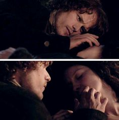 Jamie being so tender - he's trying to memorise her face. He's taking Claire back to the stones back to 'her time', and letting her go forever....