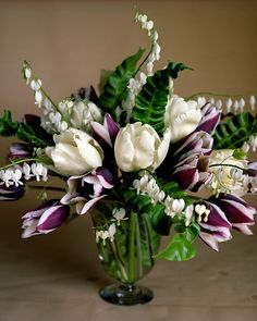 Sentimental touches! (Not a fan of the arrangement, but I love the white bleeding heart flowers!)