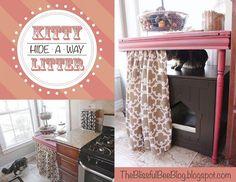 Hide-A-Way Kitty Litter Box
