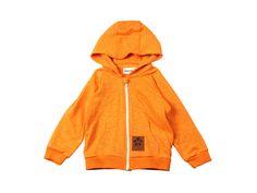 Mini Rodini French Terry Zip Hoodie - Orange Mayonnaise