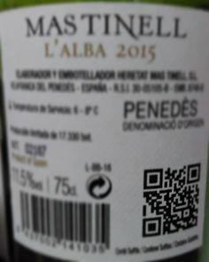 L'Alba de Mastinell amb codi QR #etiquetessocials #Penedès #socialmedia #digitalmarketing