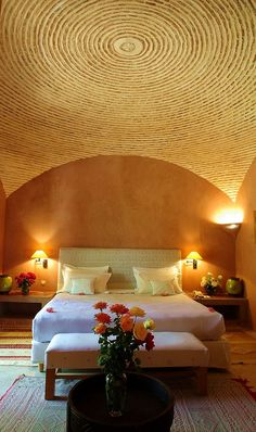 Hotel La Gazelle d'Or in Taroudant.  www.hotellagazelledor.com Agadir, Camps, Lodges, Safari, Places To Go, Hotels, African, Interiors, Bedroom