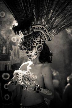 Aztec jaguar prince - Dia de los Muertos - San Jose, CA by chris_esler2000, via Flickr