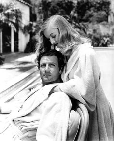 """Still of Veronica Lake and Joel McCrea in """"Sullivan's Travels"""" [1941] ~ A wonderful life of a moving picture. These two are beautiful; the ensemble...fantastic."""