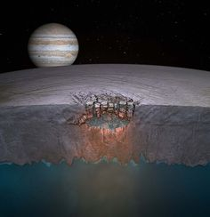 Scientists have discovered what appears to be a body of liquid water as vast as the volume of the North American Great Lakes locked inside the icy shell of Jupiter's moon Europa, suggesting a potential new habitat for life and many more such lakes might exist throughout the shallow regions of Europa's shell.