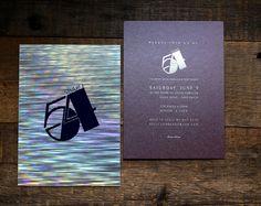 Dinner Party Invitation / Studio 54 / holographic custom design / www.socialalchemydesign.com