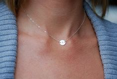 Initial necklace. I love the length and the size! I want one!!