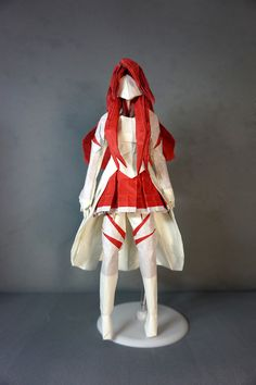 https://flic.kr/p/qWF2MP | Asuna | From Sword Art Online. I glued some red paper on the colour change parts of the white paper to keep it thin.