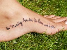 Again, love the placement, even though I have tattoos on my feet already...