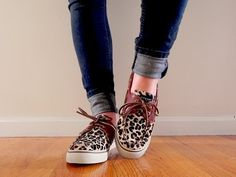 cheetah sperry . have these and love them, so comfy so makes them perfect to stand in all day to cut hair