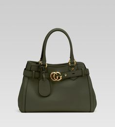 'GG running' medium tote with double G detail.