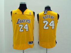 NBA Kobe Bryant youth kids jersey yellow jerseys