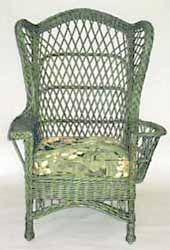 Wicker chair - I have an old wicker rocking chair with sort of matching foot stool I am totally going to paint it!