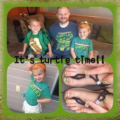 TMNT Ninja Turtle Time! Love the Ninja Turtle nails! Girls love turtles too!  Sisters2Mothers.com