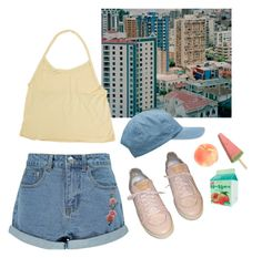 pastel city by paper-freckles on Polyvore featuring polyvore, Boohoo, Louis Vuitton, fashion, style and clothing