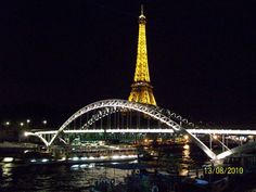 Paris at night and the Eiffel Tower, Paris.