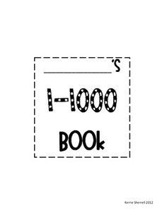 This booklet includes hundreds charts for students to count all the way from 1 to 1000.